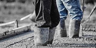 pouring concrete in the winter