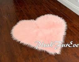 5 heart shape baby pink gy sheepskin large bedroom nursery area rug carpet