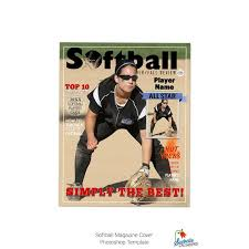photoshop magazine cover template. Softball Magazine Cover Template 001 Etsy