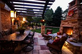outdoor terrace lighting. Lighting For Outdoor Dining Area | Landscape Connection Installation In Denver Terrace