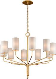 troy f6169 juniper gold leaf 42 nbsp lighting chandelier loading zoom