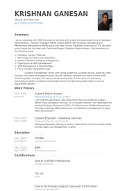Subject Matter Expert Resume Samples Visualcv Resume Samples Database