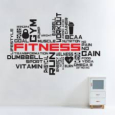 fitness gym word cloud vinyl wall art decal