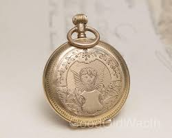beautiful antique swiss gold engraved putty and landscape lady pocket or pendant watch