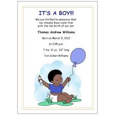 Birth Announcements Baby Boy With Balloons Mandys Moon