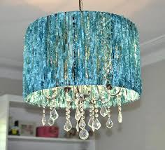 turquoise lamp shades at first i figure out what they put on this sheer black chandelier