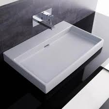Bathroom sink Rough In Ws Bath Collections Urban 70 White Wall Mount Or Countertop Bathroom Sink Without Faucet Hole Bellacor Ws Bath Collections Urban 70 White Wall Mount Or Countertop Bathroom