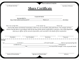 Blank Share Certificates Certificate Templates Free Word