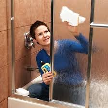 hard water spots on glass shower door cleaning water