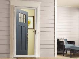 storm door with entry door open