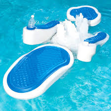 floating pool lounge chair raft the hydro massage pool float this floating pool lounger attaches to your pools filtration floating pool lounge chairs