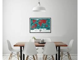Пластиковая <b>скретч</b>-<b>карта мира</b> Travel Map Marine