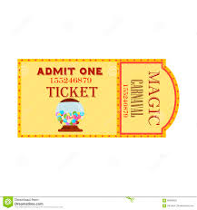 Admission Ticket Template Free Download Circus Big Magic Show With Trained Animals Two Vintage Entrance