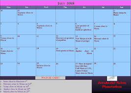 Sky Chart July 2018 Monthly Sky Chart Taralaya