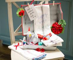 Kitchen Towel Craft Bridal Shower Activity Diy Wedding Dish Towels