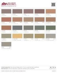 Solomon Concrete Color Chart Color Charts For Integral And Standard Cement Colors