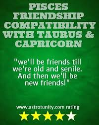Pisces Friendship Compatibility With Taurus And Capricorn