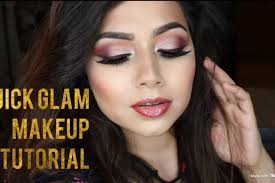my go to quick glam makeup tutorial
