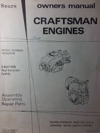 Sears Custom Lawn Garden Tractor Tecumseh Engine Parts Manual 7 hp ...