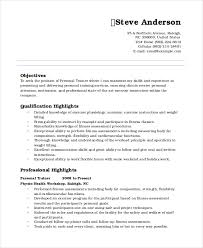 Resume Of Trainer Personal Trainer Resume Personal Resume Mentallyright Org