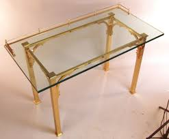 brass and glass writing desk  vanity table at stdibs