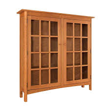 solid wood shaker style bookcase with
