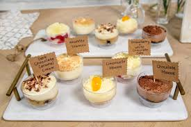 multiple mousse cups