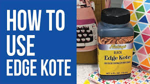 How To Use Edge Kote To Finish Raw Edges Of Cork Leather