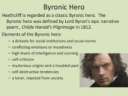 wuthering heights introduction  rejected from society 23 elements of the byronic hero