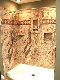 shower solid surface wall options farmhouse bathrooms