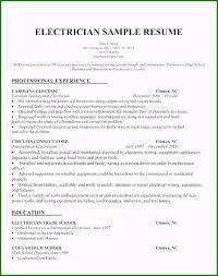 Sample Of Electrician Resumes Apprentice Electrician Resume Sample New Release Electrician
