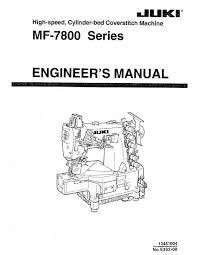 Juki Sewing Machine Engineering Manual