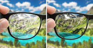 the next time your glasses get scratched do not throw them away but try out