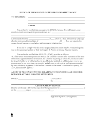 005 Template Ideas Arizona Month To Lease Termination Letter