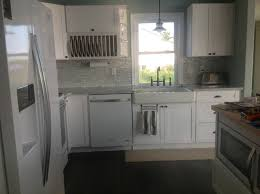 white shaker kitchen cabinets. Farmhouse Style Kitchen With White Shaker Cabinets