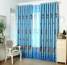 Light Blue Curtains Living Room Delightful Kids Room Curtains Light Blue Polyester Mickey Mouse