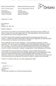 Correspondence With Judy Hartman Registrar General 18 01 2010 By Don