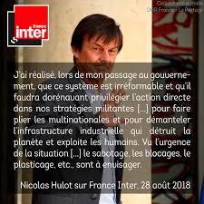 Nicolas Hulot Prônerait Laction Directe Pour Sauver Le