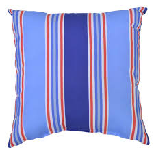 hampton bay mariner stripe square outdoor throw pillow