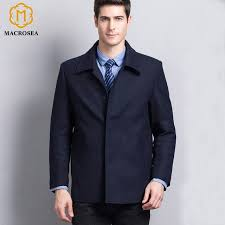 mens retro style formal casual wool coat classic design mens business jacket brand mens woolen trench