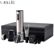 Urallife <b>5in1</b> USB Rechargeable <b>Wine Bottle Corkscrew</b> Electric ...
