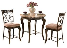 steve silver hamlyn 3 piece round marble top counter table