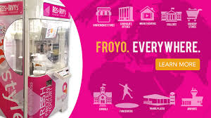 Froyo Vending Machine Cost Gorgeous Robofusion Interactive Robotic Kiosks