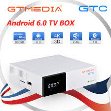 Gtmedia GTC Satellite Receiver Smart TV Box DVB-T2/S2/C Android 6.0 Cable  4K Media Player Android Set Top BOX And 1 Year Cline - Super Discount  #E5BAA