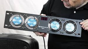 Home Theater Cabinet Fan Rockville Rrf4 19 Rack Mount 4 Fan Cooling System Youtube