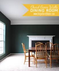 skogsta chair parsons dining dining room updates martha stewart living chard walls painted black br