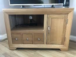 oak furniture land bevel corner tv unit