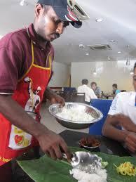 banana leaf rice server deliciously haute n food diary banana leaf rice server