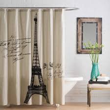 Paris Themed Bedroom Curtains Antique Shower Curtains