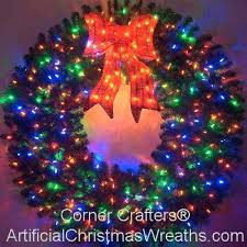large outdoor lighted wreaths large artificial wreaths whole lit garland outdoor ideas for front door